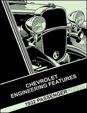 1932 Chevrolet Car Engineering Features Manual 32 Chevy Confederate