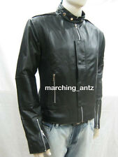 TAILOR CUSTOM MADE DESIGNER DAFT PUNK 100% real leather jacket ROCK ALL SIZE MEN