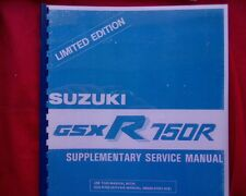 Suzuki GSXR750R Limited Edition RACING, SUPPLEMENTARY service workshop manual