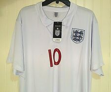 New! ENGLAND WAYNE ROONEY Football Soccer Jersey LARGE white NWT!