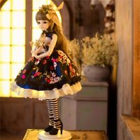 1/3 BJD Doll 60cm Female Girl Dolls With Face Make Up Wigs Shoes Clothes Outfits