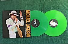 MICHAEL JACKSON~I'M REAL,THE BAD TOUR~JAPAN 9/26/87 GREEN VINYL 2LP SET *SEALED*