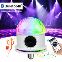 Bluetooth Speaker RGB LED Stage Light Strobe Disco Party DJ Ball Lamp DMX Colors