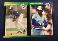 1989 Donruss & Best #70 #104 FRED MCGRIFF Lot 2 Toronto Blue Jays Atlanta Braves