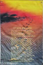 """'Footprints In The Sand' Motivational Christian 28"""" x 40"""" Hanging Flag Banner"""