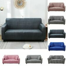 Sofa Cover Stretch Fabric Slipcover 1/2/3/4 Seat Settee Couch Protector Pure