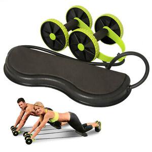 Bauchtrainer AB Roller Abdominal Bauchmuskeltrainer Wheel Fitness Muskel Gym