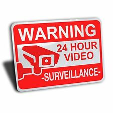 WARNING FOR PREMISES VIDEO SURVEILLANCE SIGN ALUMINUM  CCTV SECURITY CAMERA