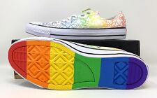 Converse All Star Low Top Sneakers Gay Pride Rainbow Star Mens Size 10 LGBTQ