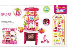 52PC Rosa Cocina Gaceta Conjunto de juego actividad de cocción con Luces Y Sonidos Nuevo