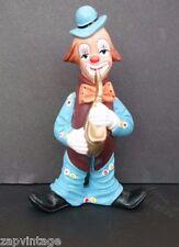 Vintage 1989 Decorative Retro PERFORMING Clown Souza Portugal Statue - Saxophone
