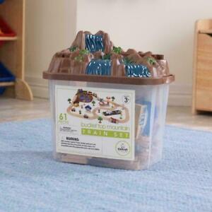 KidKraft KidCraft Bucket Top Mountain Train 61 Pc Set Acc Included NEW
