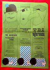 ADVENTURES OF PIEDS-NICKELES 60' FRENCH RELLYS DHERY BAQUET EXYU MOVIE POSTER