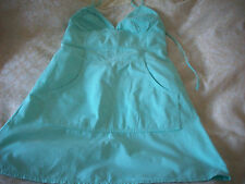 RIVER ISLAND MINT GREEN COTTON HALTER NECK DRESS 8 NEXT DAY POST.