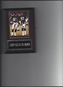 JERRY RICE & TIM BROWN PLAQUE OAKLAND RAIDERS LA FOOTBALL NFL