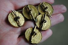 Unusual WW2 era 3D bit coin trench art buttons