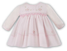 NWT Sarah Louise Baby Pink Floral Smocked LS Dress Newborn Boutique