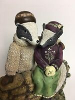 """2002 DEMDACO Woodsong """"Two Are Stronger Than One"""" Cast Resin Hand Painted Figure"""