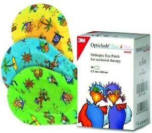 3M Opticlude Eye Patches for Boys & Girls, Maxi, 5.7cm x 8.2cm, Pack of 30
