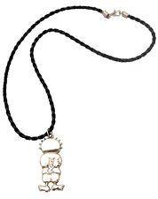 Unisex Handmade Souvenir Braided Black Rope Handala Hanthala Palestine Necklace