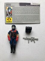 GI Joe 1986 Vipers Cobra Infantry Hasbro Action Figure Complete with File Card