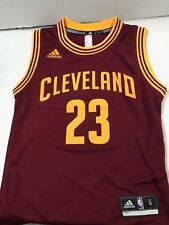 11dcae899842 Lebron James Cleveland Cavaliers Youth Large adidas Replica Jersey Wine  28e6c