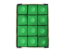 Silver Cup TOURNAMENT GREEN Pool Billiard Cue Chalk (12 Pack)