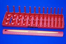 """NEW Snap-on Red 3/8"""" SAE Post Three Row Socket Tray KA383FRRD SHIPS FREE"""