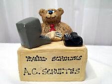 Bear A.C.Schultes at Desk Sheila Philipp Bears Etc.'Imitating Life' Vtg Figurine