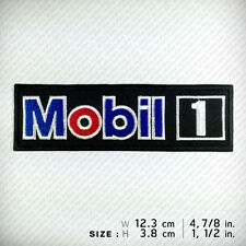 Mobil 1 EMBROIDERED PATCH IRON ON, SEW, Racing Sports Motor Oil Top Speed Winner