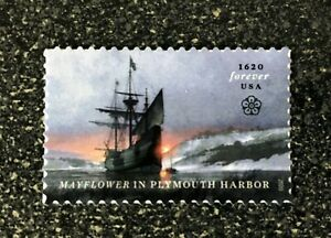 2020USA #5524 Forever Mayflower in Plymouth Harbor - Single   mint postage  1620