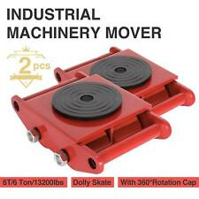2Pcs Industrial Machinery Mover Swivel Cap 6T Dolly Skate Roller Swivel Plate