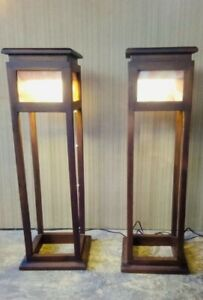 NEW Mahogany Flower Vase Pair with illumination