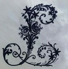 LACE HEART EMBROIDERED LINEN CUSHION COVER GIFT WEDDING NEW MONOGRAM SHABBY CHIC