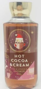 1 HOT COCOA & CREAM BATH & BODY WORKS SHOWER GEL BODY WASH BUBBLE 10 OZ