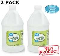 2 PACK Distilled White Vinegar 64 Oz Household Cleaning Canning & Cooking NEW