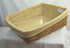Longaberger Classic Medium Bin Tapered Paper Tray Basket Combo