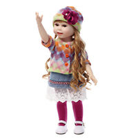 "18""/45cm Toddler Reborn Baby Girl BJD Doll Vinyl Silicone Education Toy Handmade"