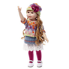 "18""/45cm Toddler Reborn Baby Girl BJD Doll Vinyl Silicone Education Toy Handmade"