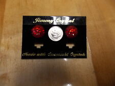 FASHION JEWELRY  JIMMY CRYSTAL EARRINGS SWAROWSKI CRYSTAL RED ROUND POST