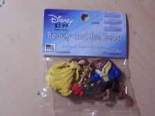 DISNEY - BEAUTY AND THE BEAST/ROSE - DRESS IT UP BUTTONS - CRAFTS - 4 PIECES
