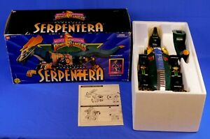 MIGHTY MORPHIN POWER RANGERS LORD ZEDD'S SERPENTERA ZORD COMPLETE WITH BOX