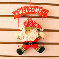 Hang Supplies Ornaments Welcome Door Hanging Decor Christmas Santa Snowman