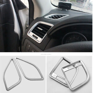 Chrome Side Dashboard Air Outlet Vent Cover Trim Fit For Mazda CX-5 2012-2015