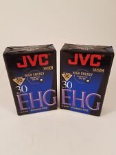 VHS Cassette JVC TC-30 EHG New Tape for Compact VHS Camcorders, Lot Of 2
