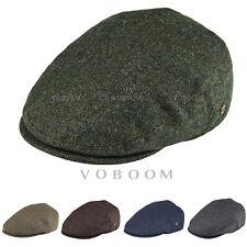 7fb1842c2273a VOBOOM MENS IVY CAP 50% WOOL HERRINGBONE TWEED GATSBY CAP WARM WINTER HAT 2