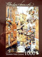 """Marilyn Simandle """"Down The Canal"""" 1000 Piece Jigsaw Puzzle New & Sealed In Box!"""