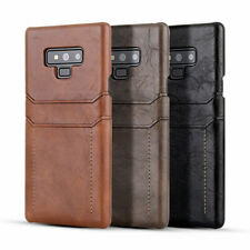 Thinnest Leather Wallet Card Holder Cover Case For Samsung Galaxy Note 9 S9 S8