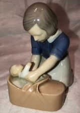 Vintage Sister welcoming Sibling Porcelain Figurine from Bing and Grondahl.