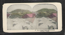 ANCON FROM ROOF OF ADMINISTRATION BUILDING PANAMA ANTIQUE STEREOVIEW CARD